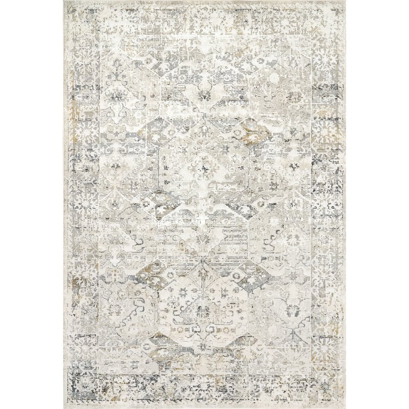 Bungalow Rose Grisby Ivory Slate Area Rug Wayfair Ca