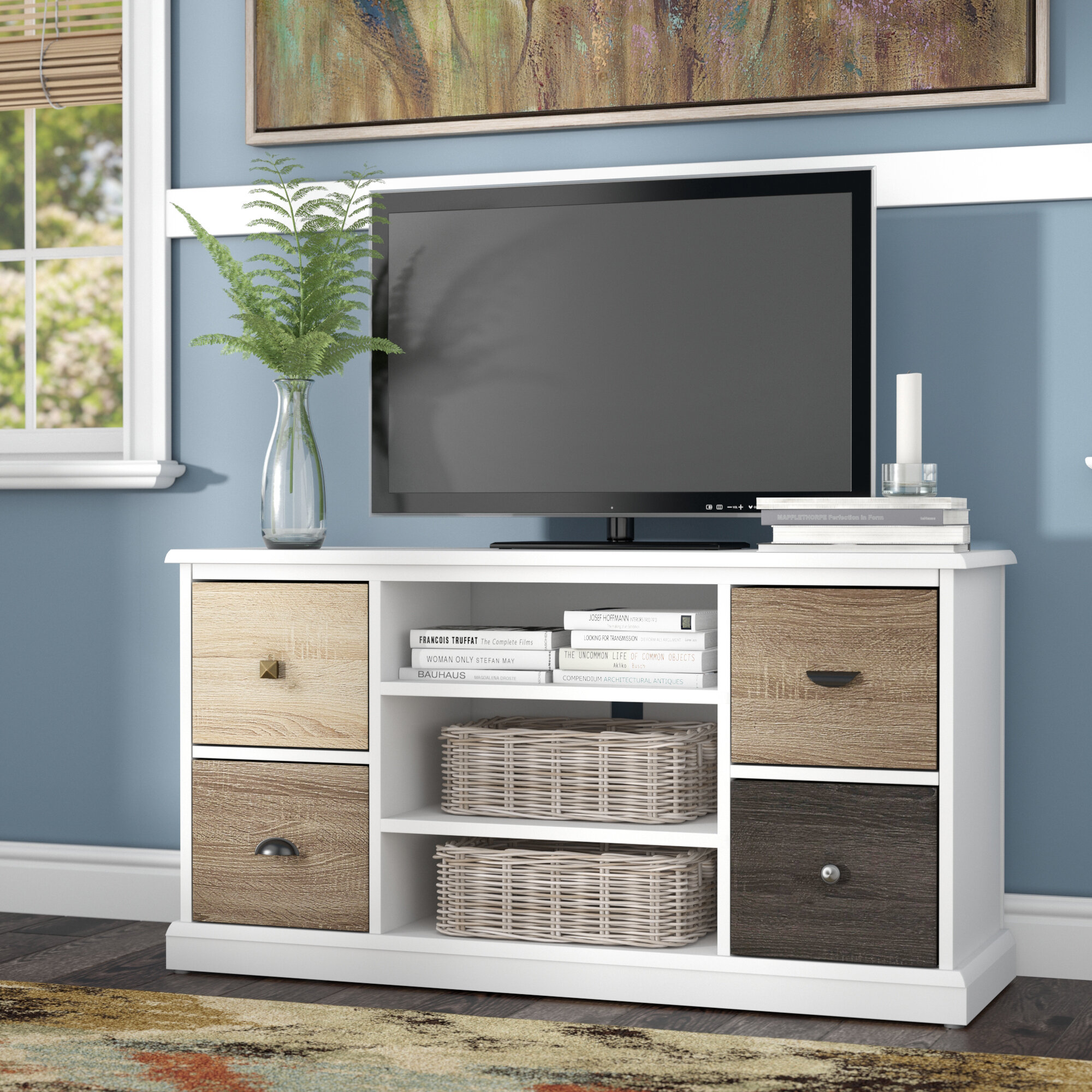 Red Barrel Studio Snowy Mountain Tv Stand For Tvs Up To 48 Reviews Wayfair Co Uk