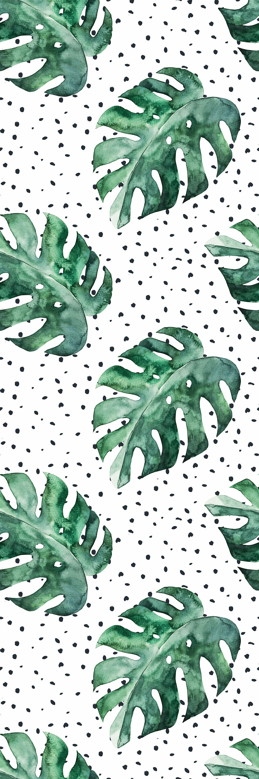 Bay Isle Home Wilhelm Removable Watercolor Monstera Leafs 8 33 L X 25 W Peel And Stick Wallpaper Roll Wayfair