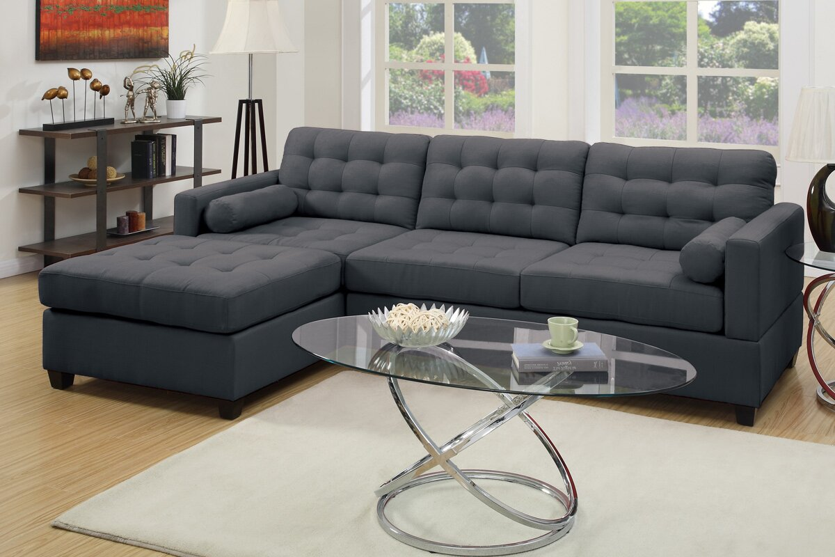 Corrine 110 Reversible Chaise Sectional Reviews Joss Main ~ Reversible Sectional Sofa