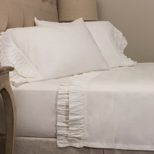 Double Ruffled 200 Thread Count 100% Cotton Sheet Set by Amity Home Coupon