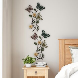 Metal Flowers Wall Decor Outdoor Art Large Galvanized Metal Flower for Bedroom Living Room Patio Decoration 10.4 X 1.9