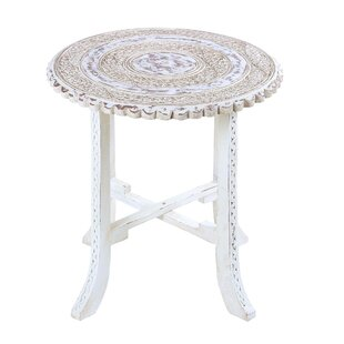 Abbeyville Fantastic Flowers Wood End Table by Bloomsbury Market