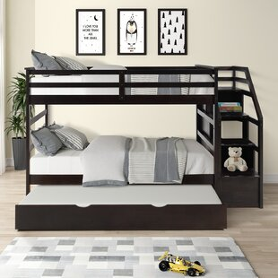 Ceara Twin over Twin Bunk Bed with Trundle and 3 Drawers by Harriet Bee