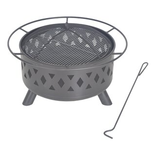 Steel Wood Burning Fire Pit by Legacy Heating