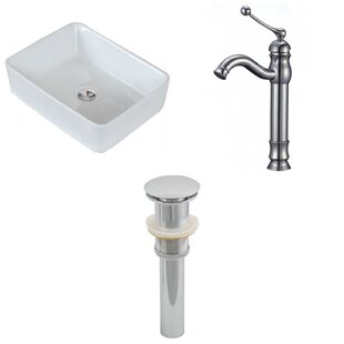 Buy luxury Ceramic Rectangular Vessel Bathroom Sink with Faucet By Royal Purple Bath Kitchen