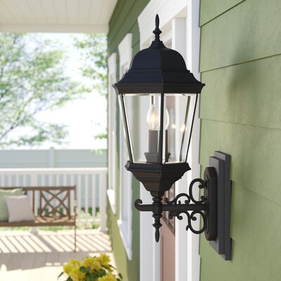 Claremont 3-Light Outdoor Sconce Sol 72 Outdoor Finish: Rust