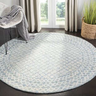 Costin Hand-Tufted Wool BlueArea Rug by Rosecliff Heights