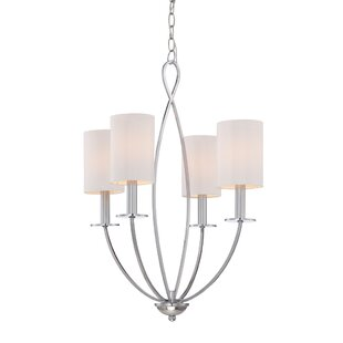 Eurofase Castana 4-Light Shaded Chandelier