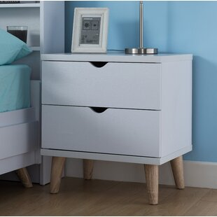 Bowie 2 Drawer Nightstand by Trule Teen