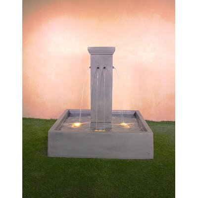 Giannini Garden Ornaments Quadrum Concrete Courtyard Fountain