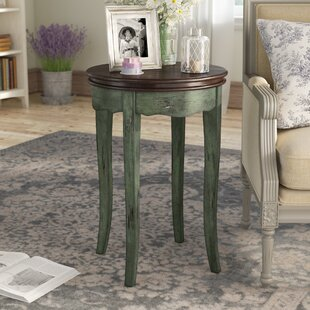 Ardin Vintage Style End Table by Ophelia & Co.
