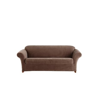 Stretch Corduroy Box Cushion Sofa Slipcover by Sure Fit