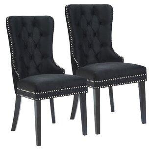 House of Hampton Melendy Velvet Side Upholstered Dining Chair (Set of 2)