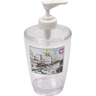 Urban NYC Clear Acrylic Printed Bathroom Soap Dispenser