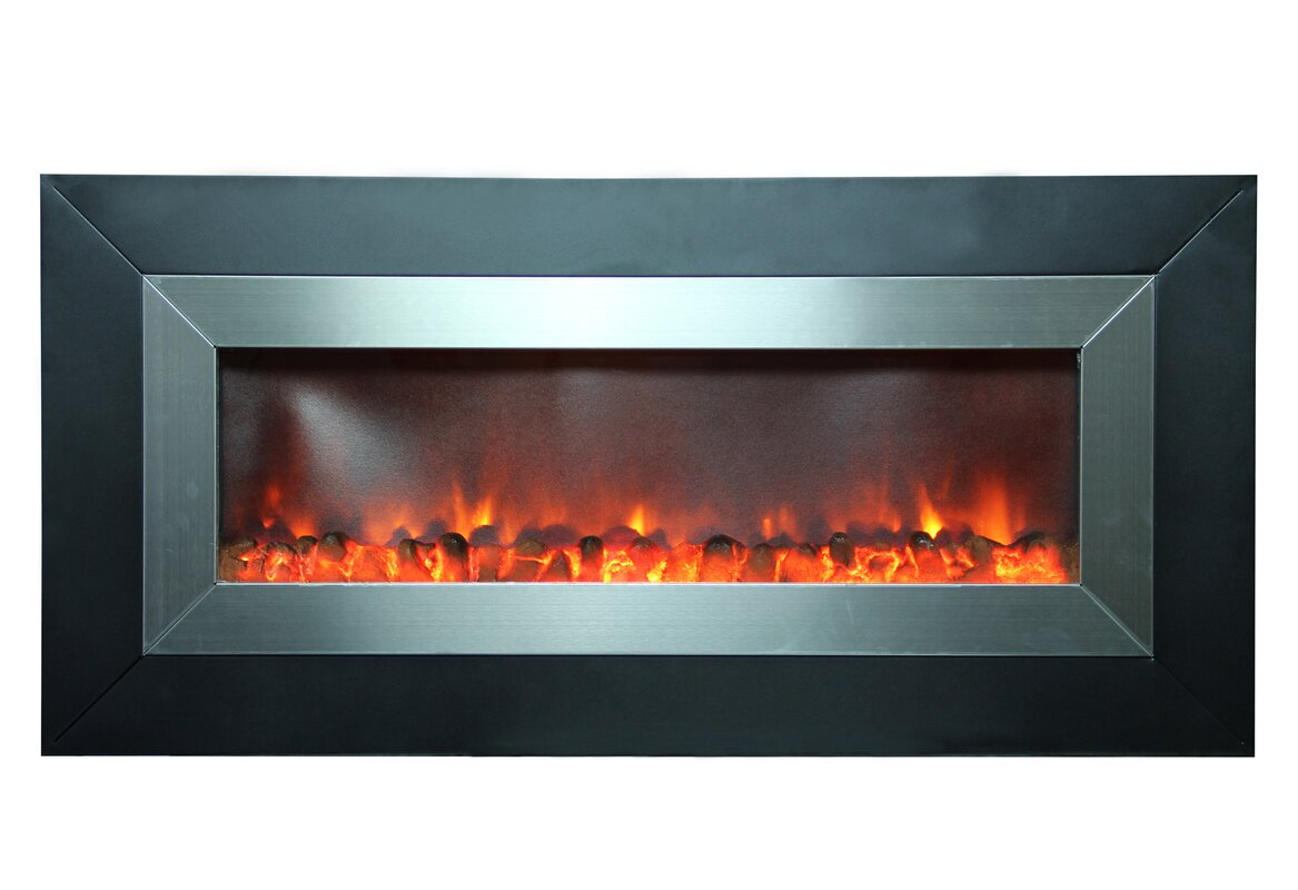 mount garden napoleon linear mounted allure inch electric wall fireplace district products miami