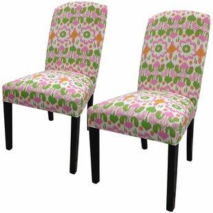 Sole Designs Flora Cotton Parson Chair (Set of 2)