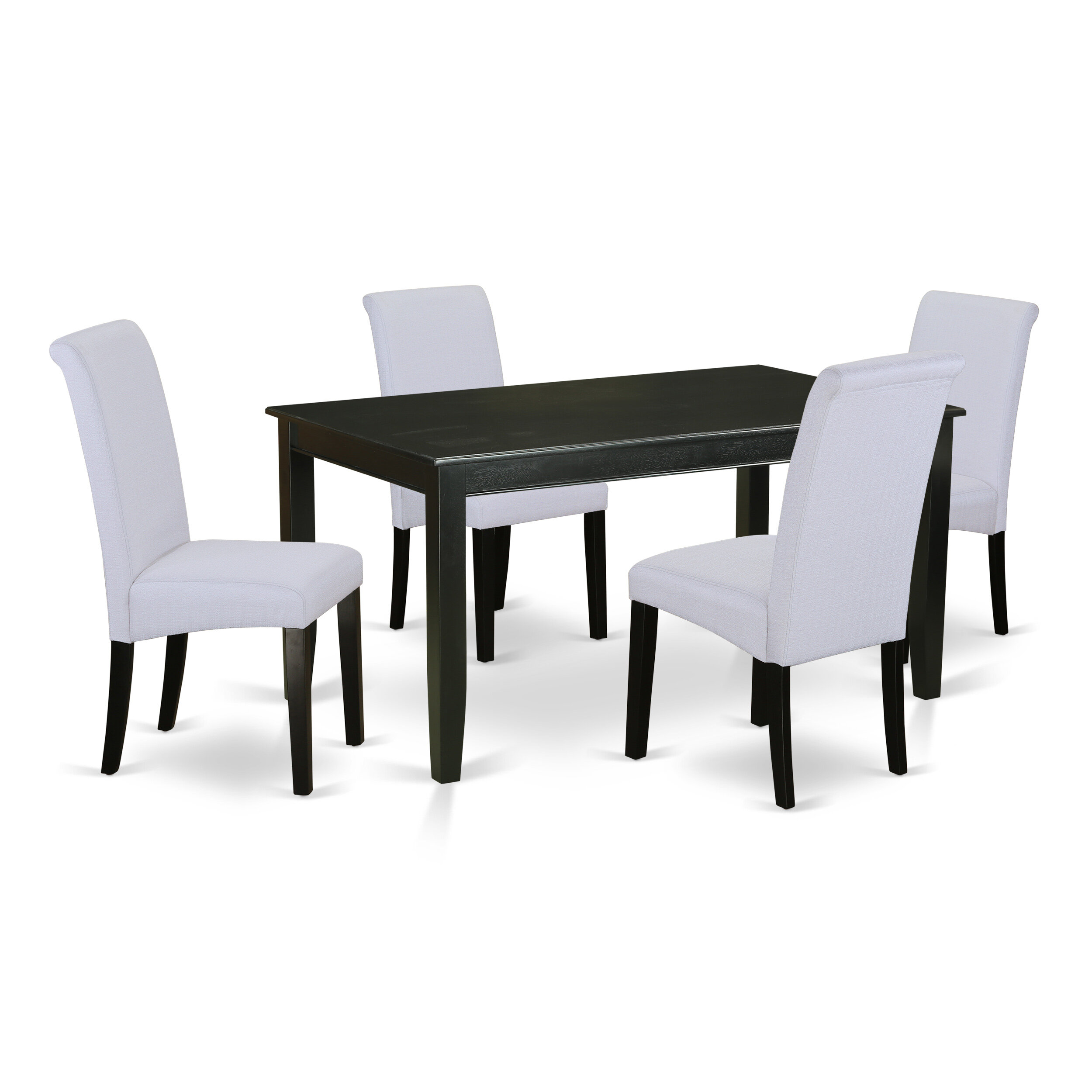 Winston Porter Bailee Kitchen Table 5 Piece Solid Wood Dining Set Wayfair