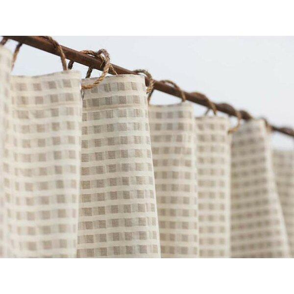 Coyuchi Birch Cotton and Linen Shower Curtain & Reviews | Wayfair