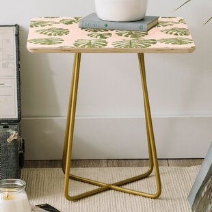 Dash and Ash Palm Oasis Square End Table
