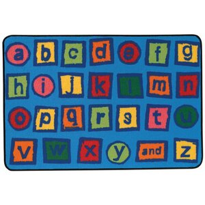 Alphabet Blocks Kids Rug