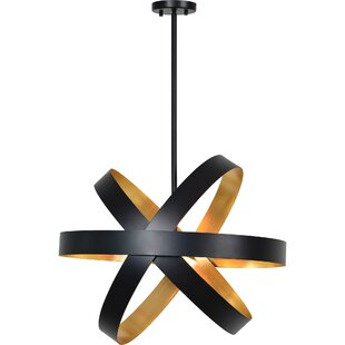 Dunaird 4-Light Geometric Chandelier by Ivy Bronx