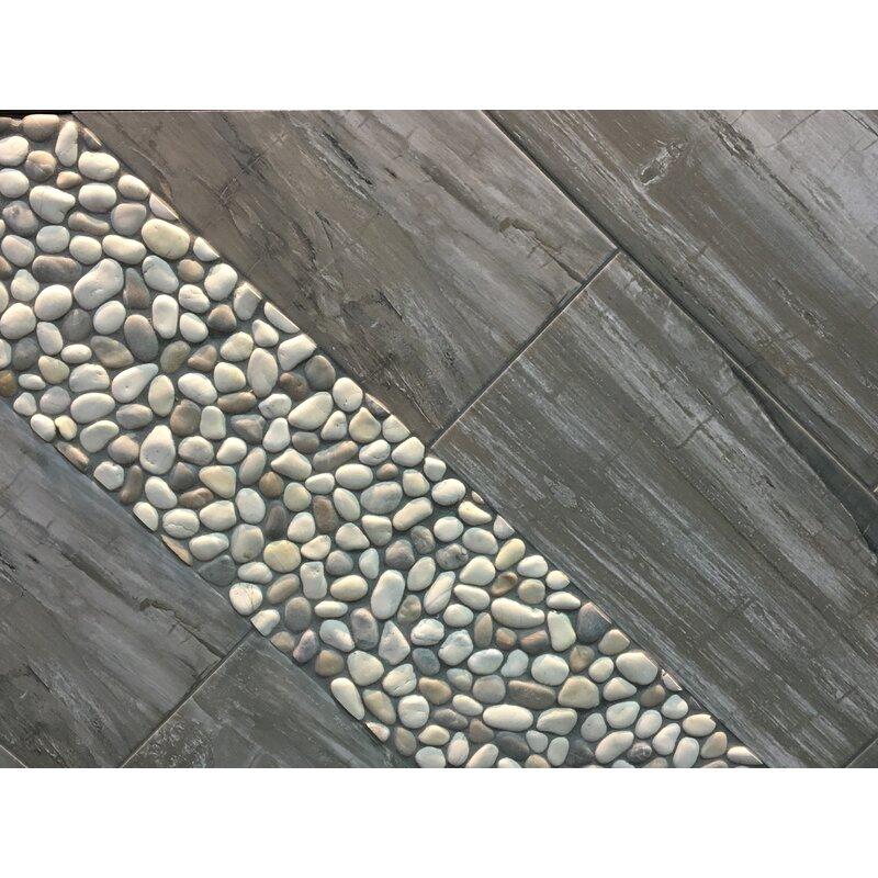 Emser Tile Madera 12 X 3 Porcelain Bullnose Tile Trim In Timber