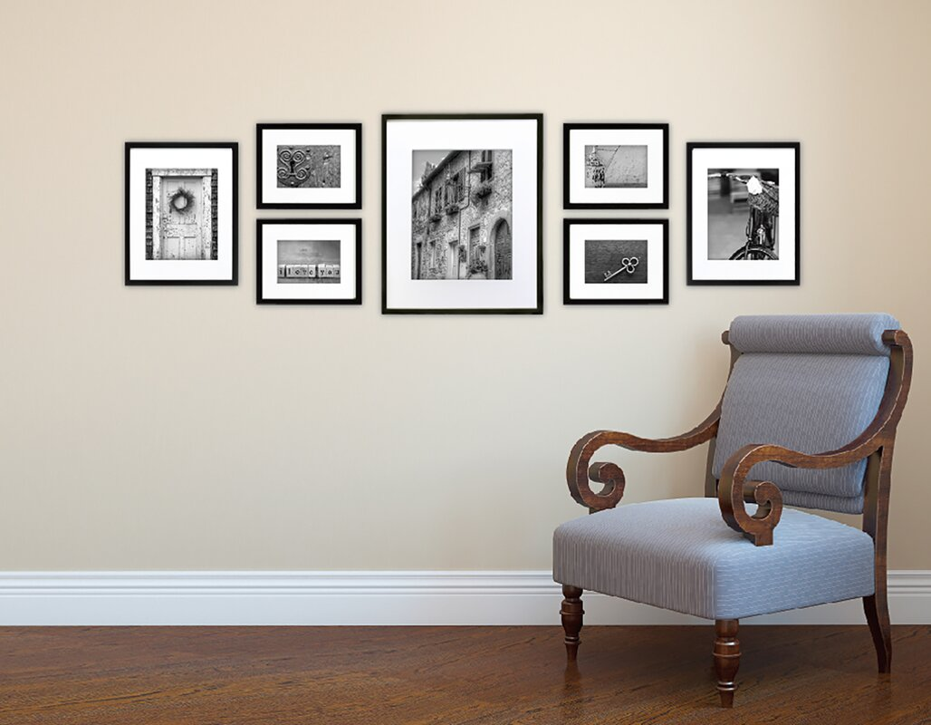 Wall Picture Frame Set red barrel studio 7 piece wood matted picture frame set & reviews