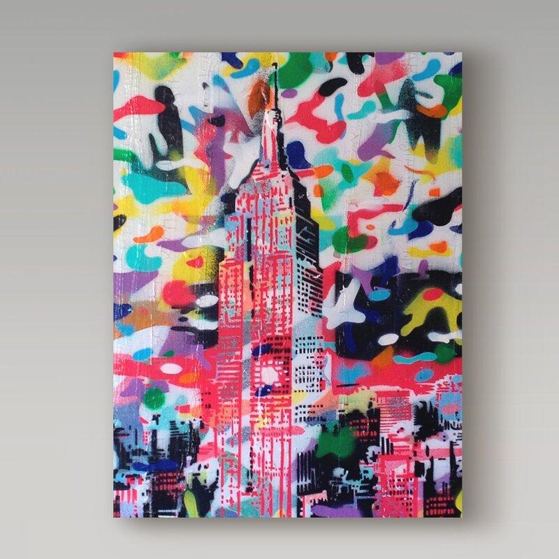 Camo Wall Art - 'New York Camo' Graphic Art Print on Wrapped Canvas