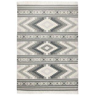Handgefertigter Teppich Kelim Colors Aus Wolle In Grau