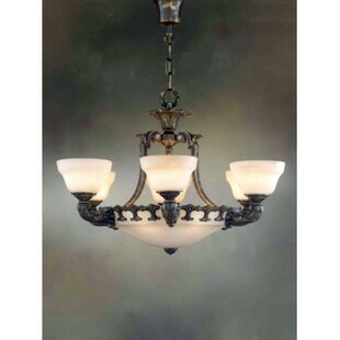 Zanin Lighting Inc. Almeria 12-Light Shaded Chandelier