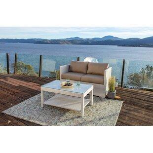 Lagoon 2 Piece Sofa Seating Group with Sunbrella Cushions