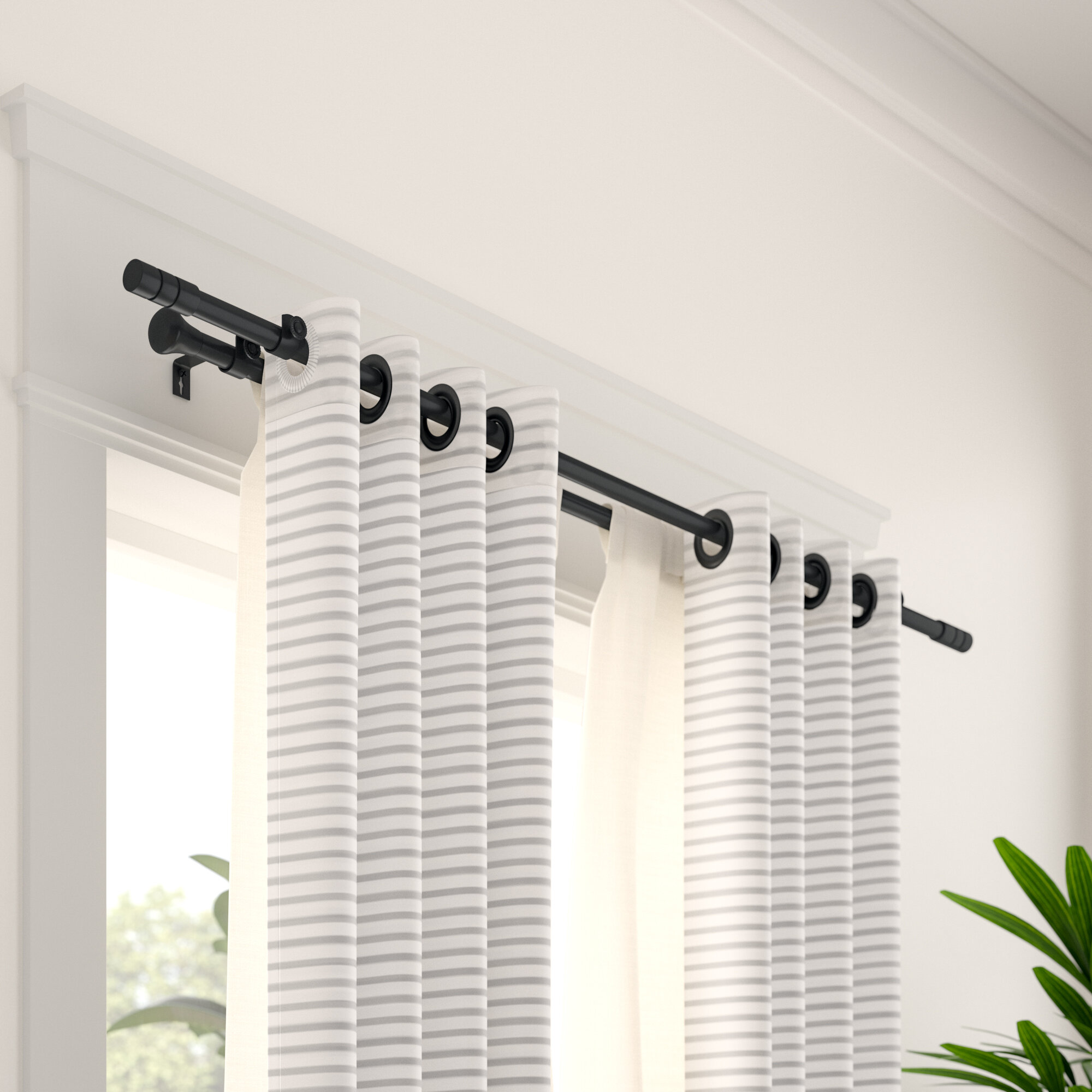 Wade Logan® Chesson Double Curtain Rod and Hardware Set & Reviews | Wayfair