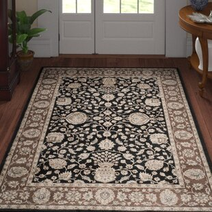 Find a Bedford Power Loomed Black/Red Area Rug ByThree Posts