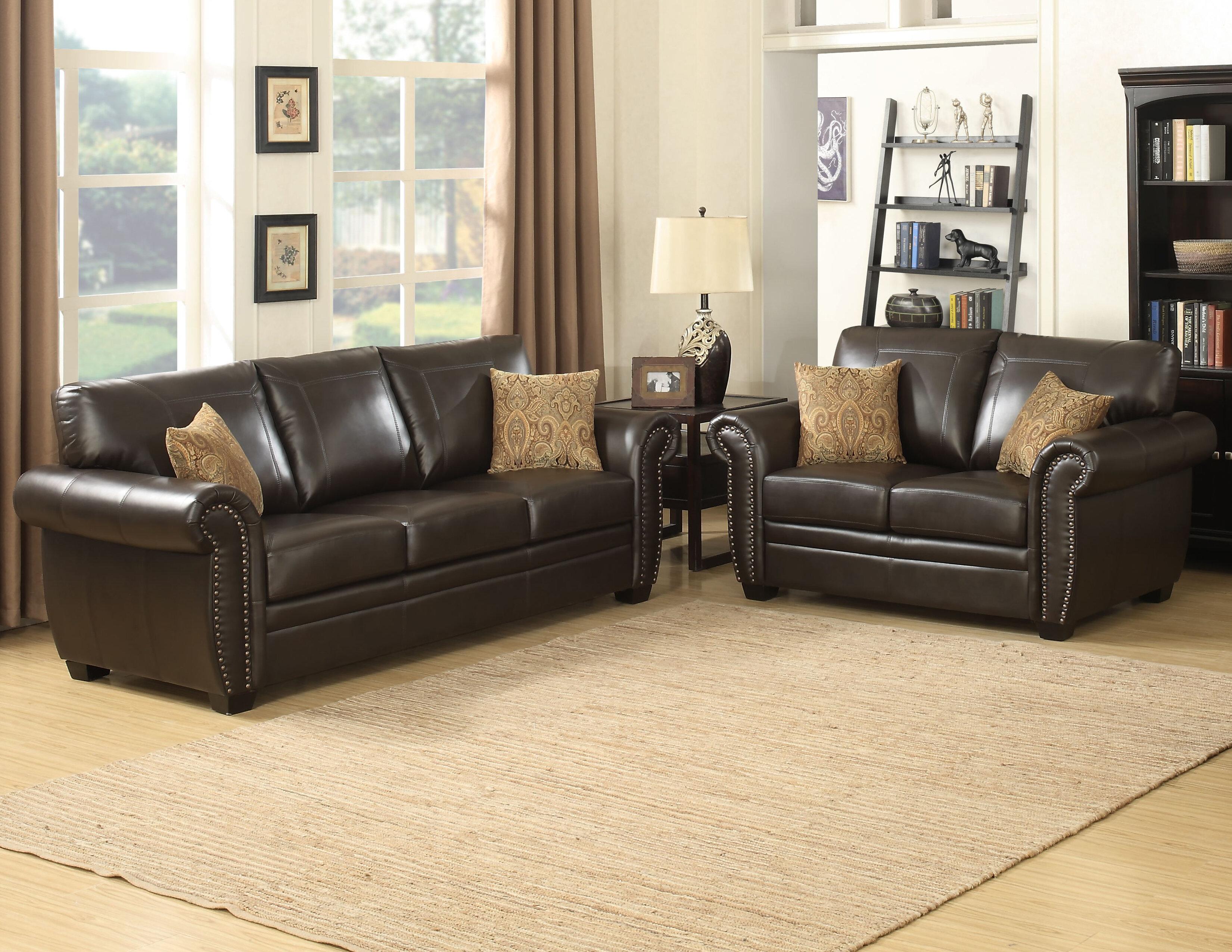 Ac pacific louis 2 piece living room set reviews wayfair