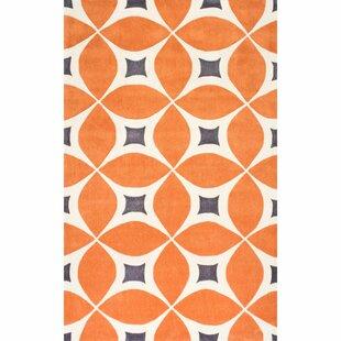 orange area rug. Sorrento Hand Woven Orange Area Rug N