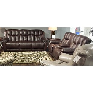 High Profile 2 Piece Leather Reclining Living Room Set
