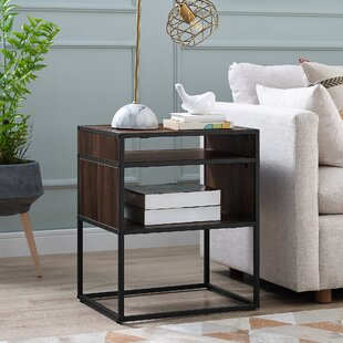 Nowak Metal and Wood End Table by Williston Forge