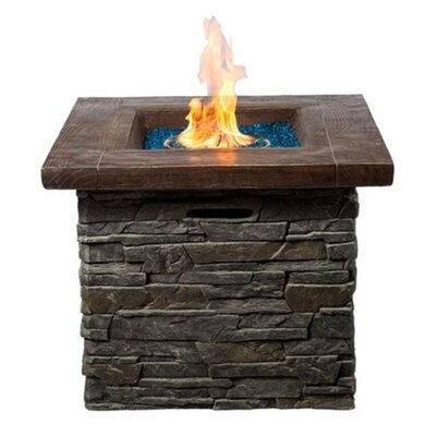 Stone Propane Outdoor Fireplace Margo Garden Products