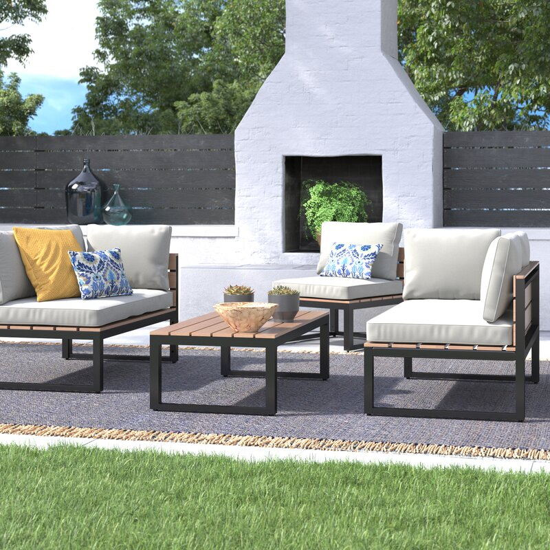 Regina 4 Piece Sofa Seating Group With Cushions Reviews Joss Main