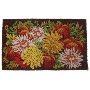 Fall Flowers Coir Door mat by Peking Handicraft