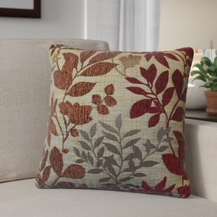Shan Chenille Jacquard Leaf Throw Pillow (Set of 2)
