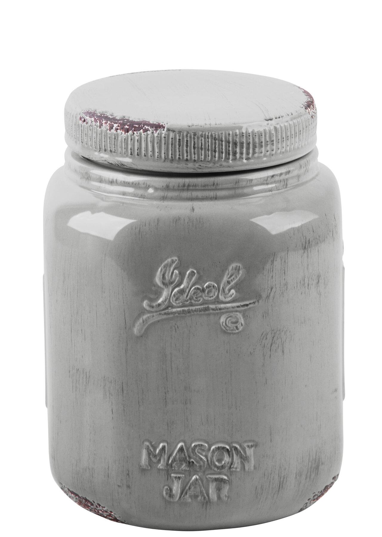 Sand Stable Mason Jar 2 Qt Kitchen Canister Reviews Wayfair