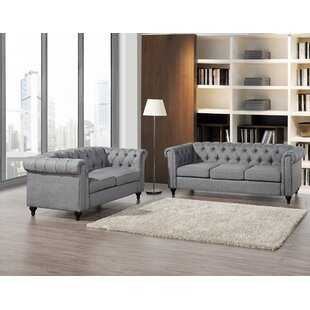 Reviews Morehouse Chesterfield 2 Piece Living Room Set by House of Hampton Reviews (2019) & Buyer's Guide