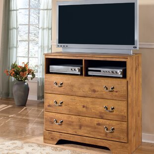 August Grove Cheyanne 3 Drawer Media Chest