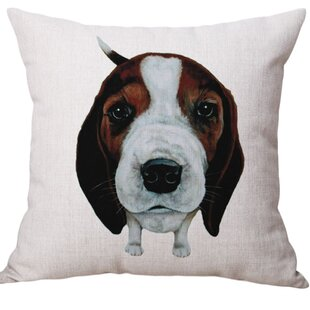 Floodwood Dog Square Throw Pillow (Set of 2)