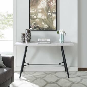 Brayden Studio Agalia Contemporary Console Table Reviews Wayfair