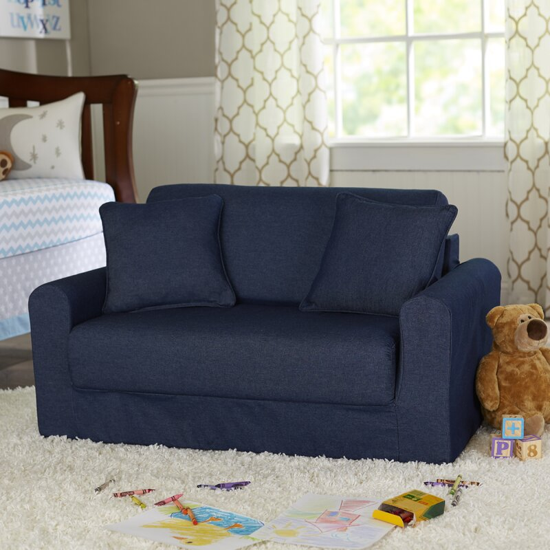 Captivating Nadler Childrenu0027s Suede Sofa Sleeper