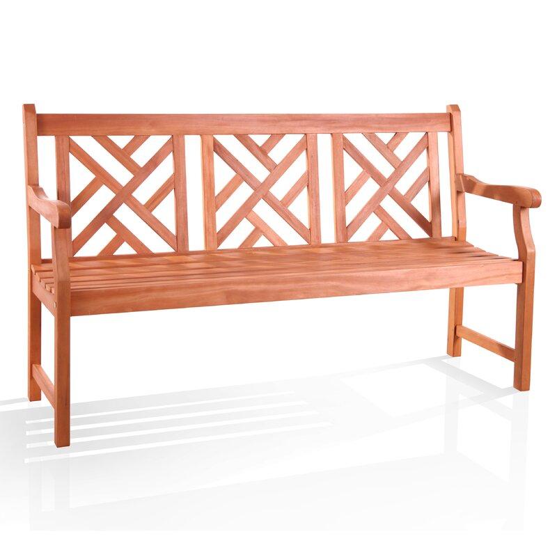 Wyndham Outdoor Eucalyptus Garden Bench