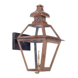 Best Lorrain 1-Light Outdoor Wall Lantern By August Grove
